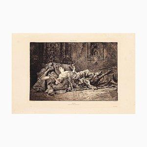 Repos - Original Etching by C.A. Waltner - 1877 1877