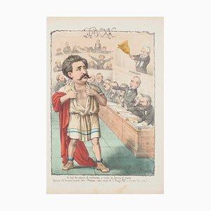 Onorevole Romano Detto '' Il Tribuno '' - Lithographie von A. Maganaro - 1872 1872