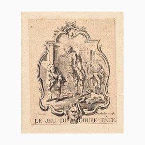 The Game of the Head - Original Radierung von L. Bacheley - spätes 18. Jahrhundert, spätes 18. Jahrhundert