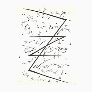 Letter Z - Original Lithograph by Raphael Alberti - 1972 1972