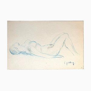 Nude - Original Pastel by S. Goldberg - Mid 20th Century Mid 20th Century