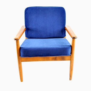 Danish Walnut Easy Chair, 1960s