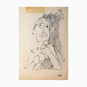 Figure - Original Ink Drawing - Mid 1900 Mid 1900