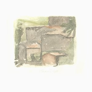 The Old Village - Vintage Offset Druck nach Giorgio Morandi - 1973 1973