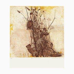 Dry Flowers - Original Etching by N. Soscia - 1970s 1970s