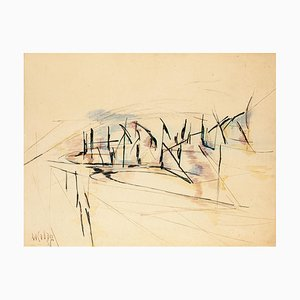 Composition - Ink and Watercolor Drawing - 1951 1951