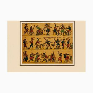 Monkeys Musicians - Original Lithograph - Late 19th Century Late 19th Century