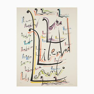 Letter L - Hand-Colored Lithograph by Raphael Alberti - 1972 1972