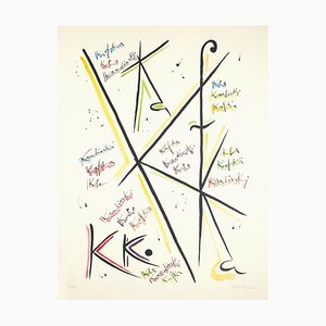 Letter K - Hand-Colored Lithograph by Raphael Alberti - 1972 1972