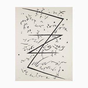 Buchstabe Z - Original Lithographie von Raphael Alberti - 1972 1972
