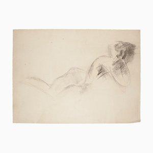 Nude - Original Charcoal Drawing - 1968 1968