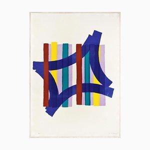 Composición abstracta - Serigrafía original de Luigi Montanarini - años 70 70