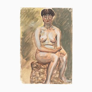Nude - Mixed Media on Paper by J.-R. Delpech - 1942 1942