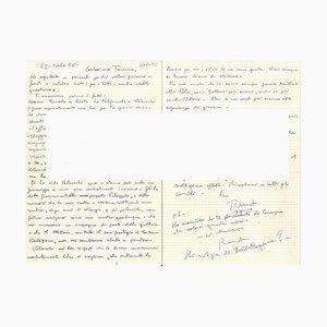 Autograph Letter by Renato Guttuso - 1958 1958