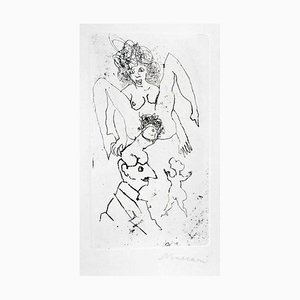 Sexual - Original Etching and Drypoint by Mino Maccari - 1960s 1960s