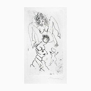 Sorgente - Acquaforte e puntasecca originali di Mino Maccari - anni '60