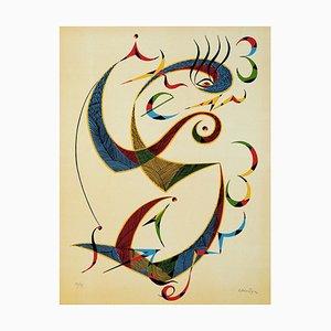 Letter S - Original Lithograph by Raphael Alberti - 1972 1972