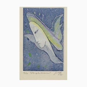 Blauer Engel - Original Radierung von Guelfo - 1978 1978