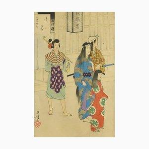 Washing Hair - Offset Print After Mizuno Toshikata 1959