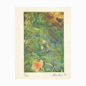 Green Composition - Original Etching by Nino Cordio - 1995 1995