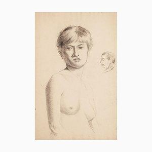 Portrait einer nackten Frau - Früh 1900 - René François Xavier Prinet - Zeichnung des frühen 20. Jahrhunderts