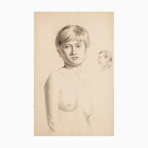 Portrait of a Nude Woman - Early 1900 - René François Xavier Prinet - Drawing Early 20th Century