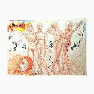 Stultae et prudentes filiae - Original Lithograph by Salvador Dalì - 1964 1964