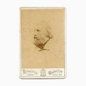 Portrait de Giuseppe Garibaldi - Antique Albumine Print - 1870s 1870s