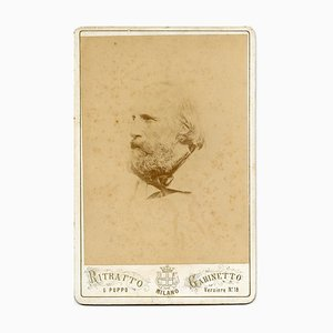 Portrait of Giuseppe Garibaldi - Ancient Albumen Print - 1870s 1870s