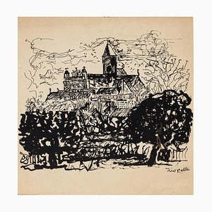 Church - Original Lithograph - 1950s 1950s