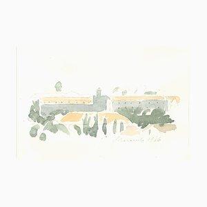 Monastery - Vintage Offset Print after Giorgio Morandi - 1973 1973