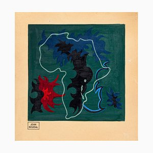 Africa - Original Oil on Paper by Jean Boudal - 1950s 1950s