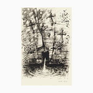 Fountain - Original Etching by Michel Ciry - 1964 1964