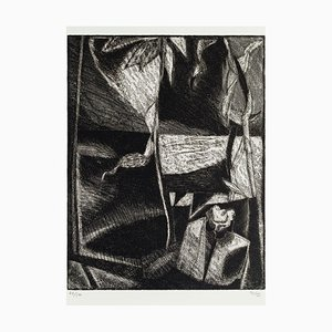 Composition - Original Etching by Togo - 20th Century 20th Century