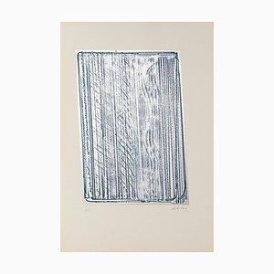 Composición - Serigrafía original en metal de Salvatore Emblema - 1970 1970