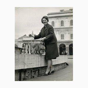 Retrato de Renata Tebaldi - Fotografía vintage original - 1961 1961