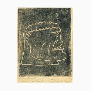 Ex Libris Profil des Menschen - Original Holzschnitt von M. Fingesten - Früh 1900 1900
