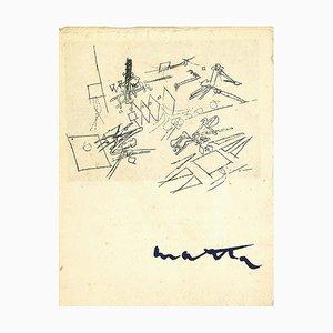 Seltene Vintage Ausstellungsbroschüre - RS Matta - Galerie di Dragon - 1958 1958