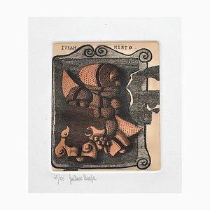 Fragment - Original Etching by Gaetano Pompa - 1980 ca. 1980 ca.