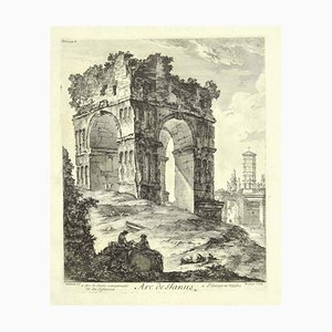 Arch of Janus - Original Etching 18th Century 18th Century