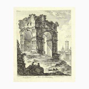 Janusbogen - Originale Radierung 18. Jahrhundert 18. Jh