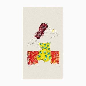 Bather - Original Lithographie von Sergio Barletta - 1980er 1980er