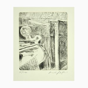 In the Studio - Original Etching by P. Fazzini - 1964 1964
