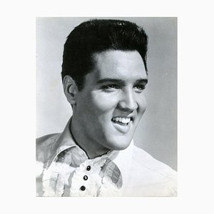 Portrait of Smiling Elvis Presley - Vintage Photographic Print - 1960's 1960s