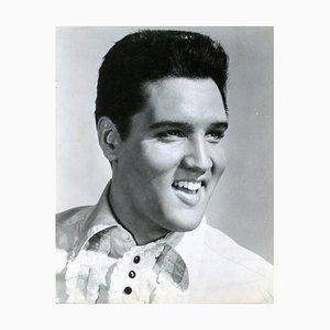 Retrato de Smiling Elvis Presley - Impresión fotográfica vintage - años 60