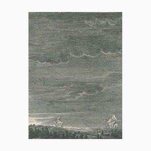 Les Gemeaux Castor et Pollux - Etching by B. Picart - 1742 1742