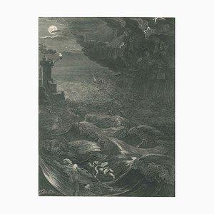 Leandre - Original Radierung von Bernard Picart - 1742 1742
