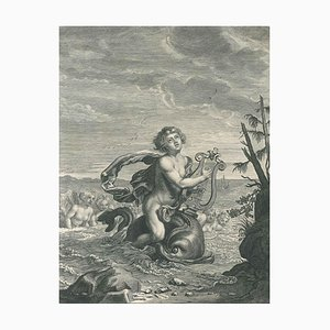 Arion- Original Etching by Bernard Picart - 1742 1742