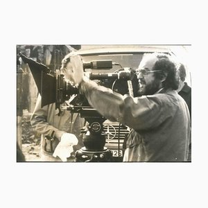 Stanley Kubrick Directing - Original Vintage Photograph - Early 1980s 1980s