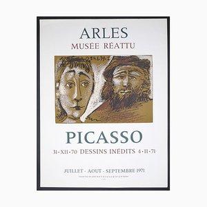 Picasso Vintage Ausstellungsplakat in Arles - 1971 1971